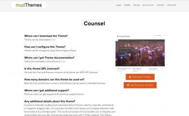 http://www.mudthemes.com/counsel screenshot