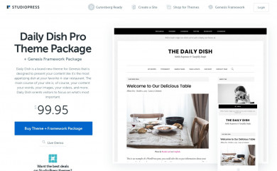 Daily Dish Pro Theme screenshot
