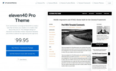 eleven40 Pro Theme screenshot