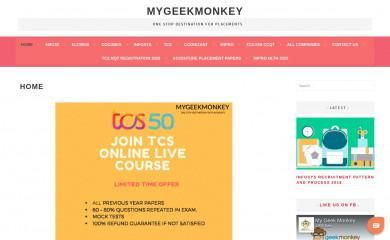 http://mygeekmonkey.com screenshot