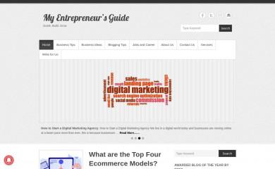 myentrepreneursguide.com screenshot