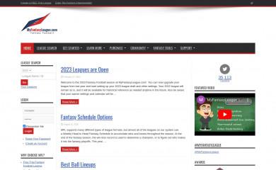 myfantasyleague.com screenshot