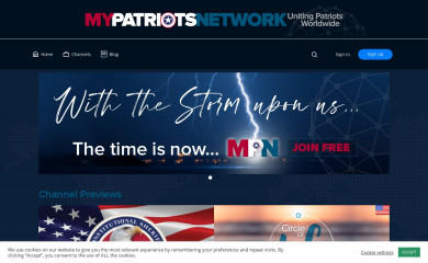 mypatriotsnetwork.com screenshot