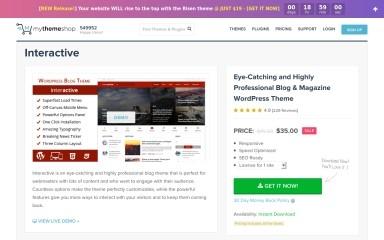 Interactive by MyThemeShop screenshot