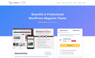 NewsOnline by MyThemeShop screenshot