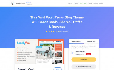 SociallyViral Pro by MyThemeShop screenshot