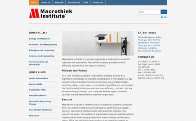 macrothink.org screenshot