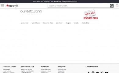 macysrestaurants.com screenshot