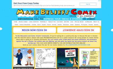 makebeliefscomix.com screenshot