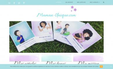 maman-unique.com screenshot