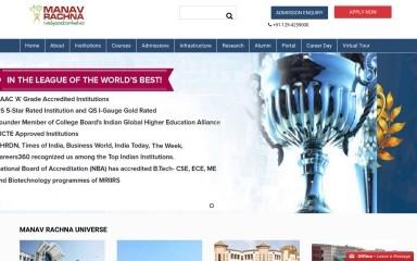 http://manavrachna.edu.in screenshot