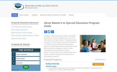 masters-in-special-education.com screenshot
