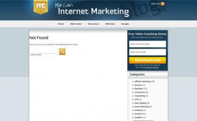 http://mattsmarketingblog.com/wp-theme.html screenshot