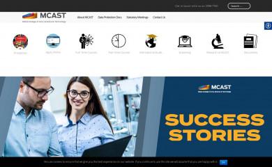 http://mcast.edu.mt screenshot