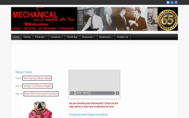 mechanicalsupply.com screenshot