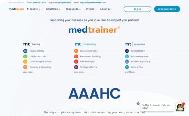 medtrainer.com screenshot