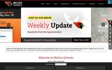 melissaisd.org screenshot