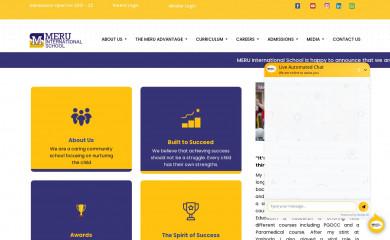 meruinternationalschool.com screenshot