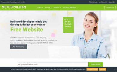 metropolitanhost.com screenshot