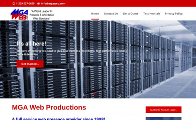 mgaweb.com screenshot