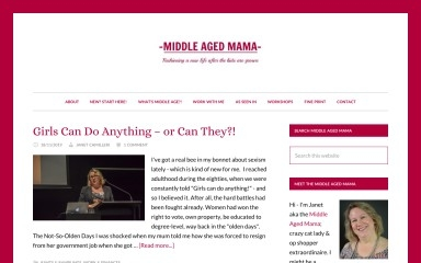 http://middleagedmama.com.au screenshot