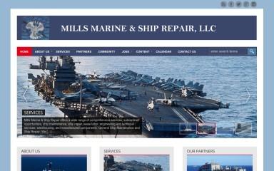 millsmarineshiprepair.com screenshot