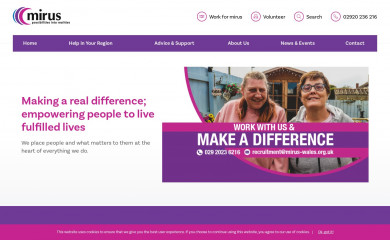 mirus-wales.org.uk screenshot