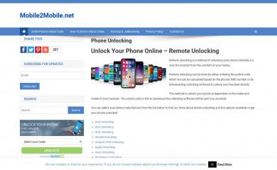 mobile2mobile.net screenshot