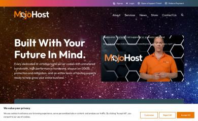 mojohost.com screenshot