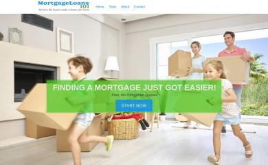http://mortgageloans101.com screenshot