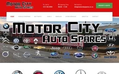 motorcityspares.co.za screenshot