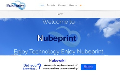nubeprint.com screenshot