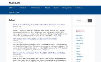 nvshq.org screenshot