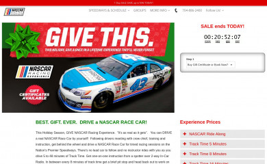 http://nascarracingexperience.com screenshot