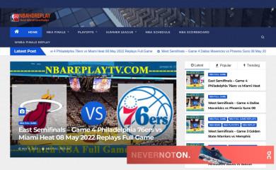 nbahdreplay.com screenshot