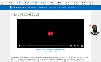 nbastream.tv screenshot