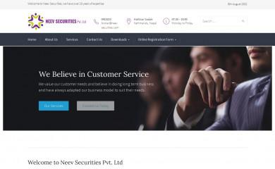 neevsecurities.com.np screenshot