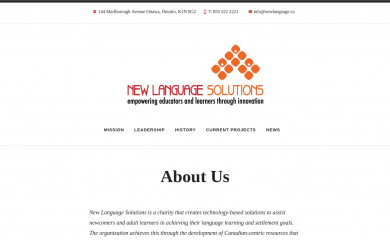 newlanguage.ca screenshot