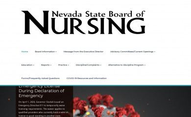 nevadanursingboard.org screenshot