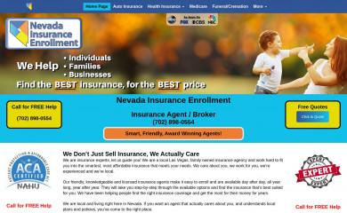 nevadainsuranceenrollment.com screenshot