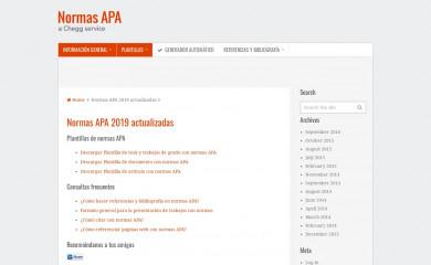 http://normasapa.com screenshot