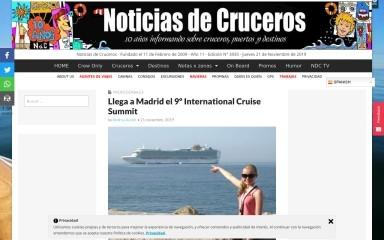 noticiasdecruceros.com screenshot