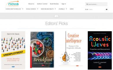 novapublishers.com screenshot