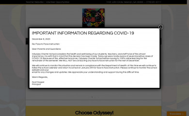 http://odysseycharterschool.net screenshot