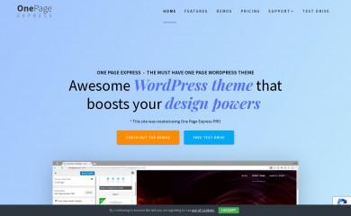 https://onepageexpress.com screenshot