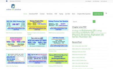 onlinesetpractice.com screenshot
