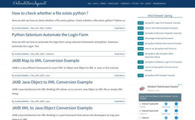 onlinetutorialspoint.com screenshot