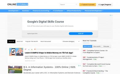 onlinetutorials.org screenshot