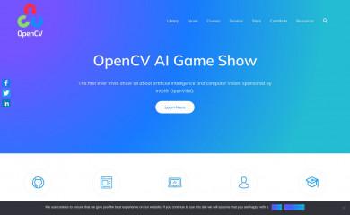 opencv.org screenshot