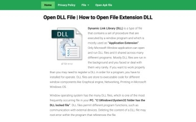 opendllfiles.com screenshot